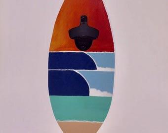 Surf bottle opener