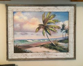 Florida Beach Scene Canvas Giclee By Buddy Brown Old Vero Beach