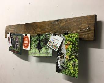 KLIPTU  Wall organizer photo album rustic chic designed and built by J. Sebastian