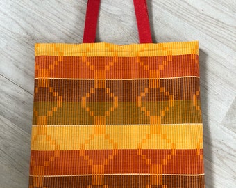 Tote bag reversible wax with pockets