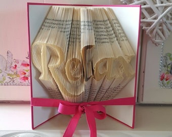 Relax Book Folding Pattern. DIY. Make your own gift. Please read Listing. PDF Files Only.