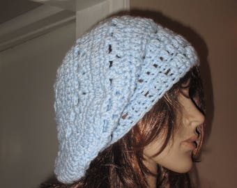 Blue Beret Tam Hat Light Blue Rasta Hat