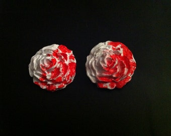 Painting the Roses Red Stud Earrings