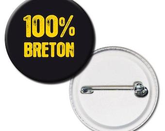 100% Breton 38mm badge