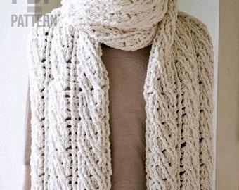 Crochet Scarf Pattern, The Sullivan Crochet Scarf Pattern, Women's Scarf Pattern, Crochet Pattern, Crochet Patterns, Chunky Cabled Scarf