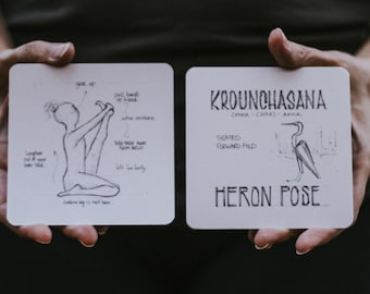 108 Asanas Flashcards \\ Yoga Cards \\ 108YogaLove \\ Align. Refine. Design .. The Union of Yoga & Art