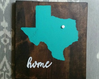 Home state rustic wood sign (Choose state and colors)
