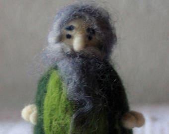 Doll Elf couple needle felted waldorf inspired
