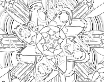 Scala Energy Mandala - #1, coloring page, Scala Wave Energy coloring page, adult coloring page, printable coloring page, downloadable page