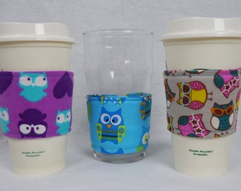 Owl Reusable Coffee Sleeve