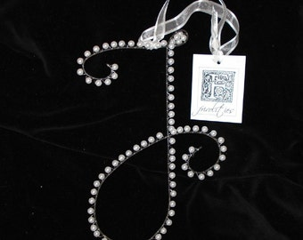 F Pearl Letter Monogram (All Letters Available)