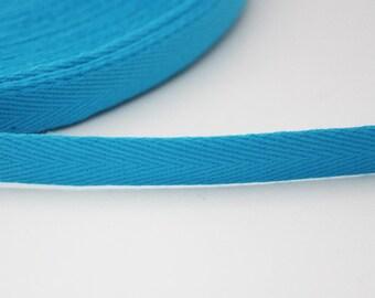 Serge 10 mm Ribbon, turquoise, 1 m