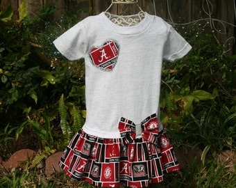 Baby Girls to Teens UNIVERSITY of ALABAMA Tshirt Dress Infant Toddlers School Game Day Dresses Headbands Available Select Tab Below for Size