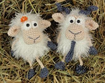 Amigurumi Crochet Pattern - Baarney & Baarb the Sheep - English Version