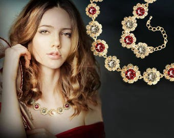 Natural Red and White Zircon