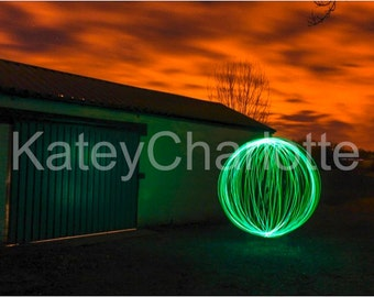 Abandoned Building Light Orb/Ball of Light Long Exposure A3 Gloss Print