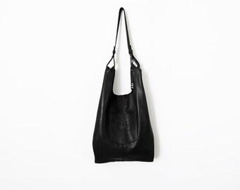 Black leather bag - leather tote bag - women bags SALE leather shoulder bag - leather handbag leather shopper bag hobo
