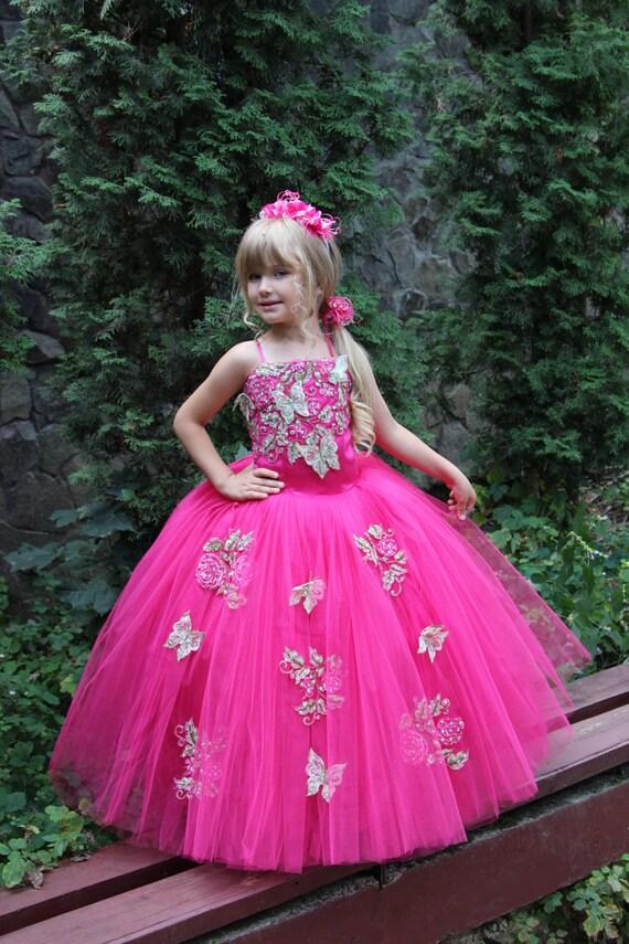 Fucsia de la boda vestido de fiesta cumpleaños fiesta de Dama