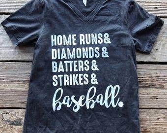 Baseball Shirt/Baseball Tee/Custom Baseball Shirt/V-Neck Baseball Shirt