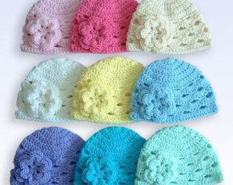 Pick 1 Hat, Newborn Hat, Newborn Photo Prop, Baby Girl Hat, Girl Hat, Baby Hat, Crochet Baby Hat, Baby Girl, Baby Newborn Hat