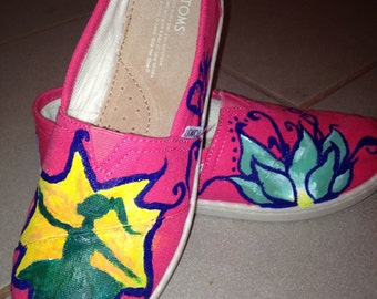 Custom Painted Toms Shoes- Dancer