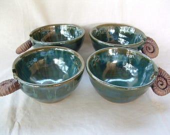 Handmade stoneware noodle bowl or chopstick bowl