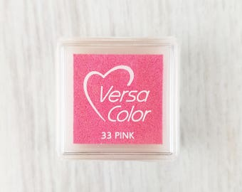 VersaColor Pigment Ink Pad Small in Pink - Magenta Inkpad - Ink for stamp - Inkpad for Rubber Stamp - Versa Color - Colour Ink Pad