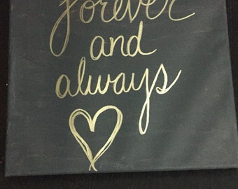 Forever & Always canvas painting