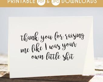 step dad, step dad printable card, step dad funny card, sarcastic step dad card, step dad gift