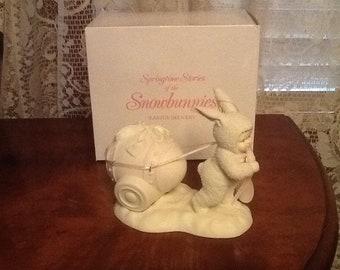 Snowbunnies Easter Delivery Figurine Vintage 1994 Dept. 56 MIB