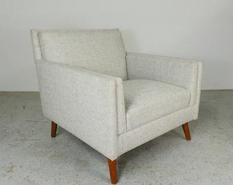 Paul McCobb Planner Group Custom Craft Rare platinum tweed lounge chair FREE SHIPPING
