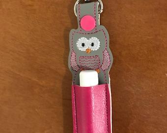 Owl lip balm holder