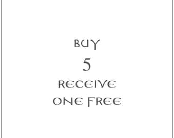 buy 5 prayer cards - receive one free