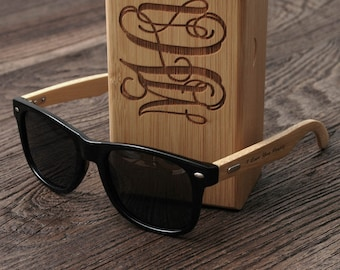 Dad Gift Personalized Sunglasses Men with Case - The Perfect Gift for Dad, Father, Papa, Daddy, Boyfriend
