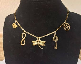 Gold Charm Choker/Necklace