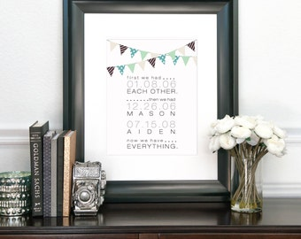Chic Home Decor, Family Established, First We Had Each Other Then We Had You, Home Prints, Family Home Decor, Wall Art // N-G66-1PS AA3 06P
