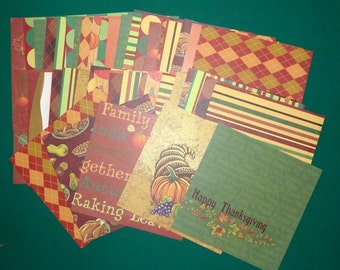 Thanksgiving Card Stock Paper