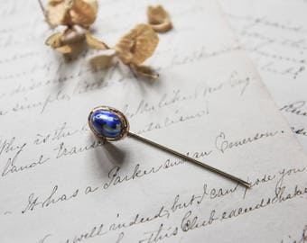 Stick Pin, Antique Stick Pin, Victorian Era Stick Pin, Vintage Stick Pin, Antique Pin, Blue Cab Stick Pin, Antique Brooch, Antique Jewelry,