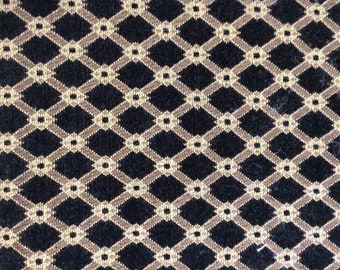 FABRIC SQUARE black gold 26x26 pillow front dining chair or cushion  upholstery fabric