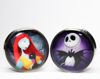 Jack and Sally Plugs gauges  0g, 00g, 7/16, 1/2, 9/16, 5/8, 3/4, 7/8, 1 inch