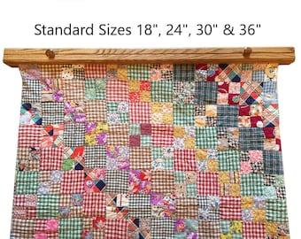 """Quilt & Rug Hanger -  18, 24, 30, 36"""" Several Finishes Available in Oak and Maple."""