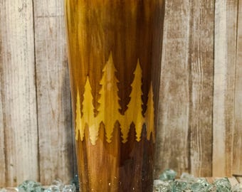 Personalized Cups, Tumbler Cups, Personalized Tumbler, Personalized Tumbler Cups, Wood Grain, Forest Decor, Forest Art, Forest Print,