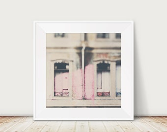 travel photography lisbon photograph window photograph urban decay photograph architecture photograph pastel pink home decor