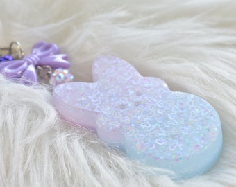 Pastel matte Kawaii Bunny Keychain/bag charm