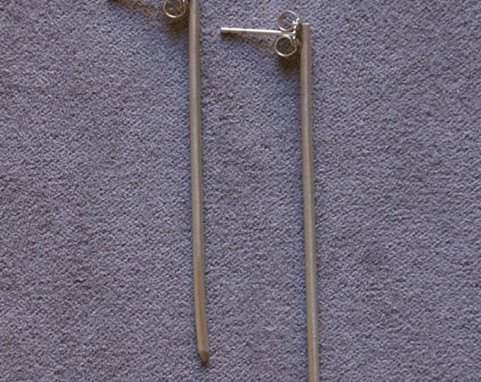 Thin Post Earrings in Sterling Silver