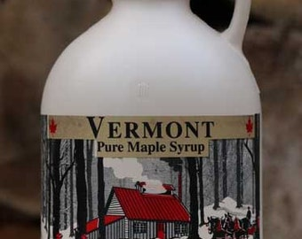1 Quart Organic Pure Vermont Maple Syrup, Made in Vermont USA, Free Shipping - Jug