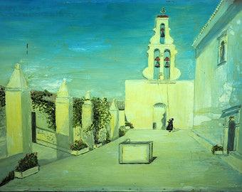 Joseph Jankowski American Artist (1916-) Title Corfu-Signed