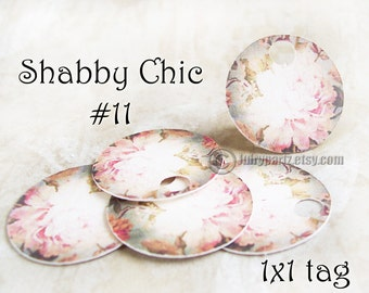42•COTTAGE Chic #11•1x1 Round Tags•Gift Tags•Favor Tags•Price Tags•Thank You Tags•Necklace Tags