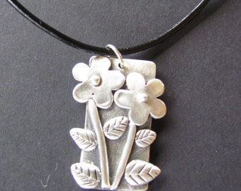 Silver flowers & leaves