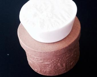 Plumeria Rose Goat Milk Soap, White Soap, Goats Milk